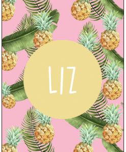 Naamposter - Botanical Pineapple - naamposter, geboorte poster, geboorteposter baby, geboorteposter maken, naamposter baby,