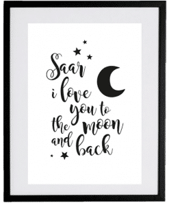 Naamposter - Love you to the moon and back - naamposter, geboorte poster, geboorteposter baby, geboorteposter maken, naamposter baby,