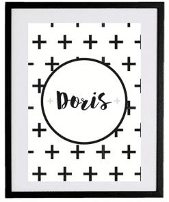 Naamposter - Plusjes - naamposter, geboorte poster, geboorteposter baby, geboorteposter maken, naamposter baby,