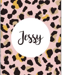 Naamposter - Luipaard pink - naamposter, geboorte poster, geboorteposter baby, geboorteposter maken, naamposter baby,