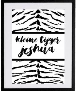 Naamposter - Kleine tijger - naamposter, geboorte poster, geboorteposter baby, geboorteposter maken, naamposter baby,