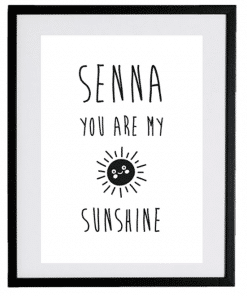 Naamposter - You are my sunshine - naamposter, geboorte poster, geboorteposter baby, geboorteposter maken, naamposter baby,