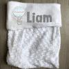 Babydeken met naam - Olifant ballon blauw - Gepersonaliseerd - Gepersonaliseerd - Kinderkamer accessoires - Bed textiel - Beddengoed kinderkamer - Zacht dekentje met naam - Kraam cadeau