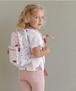 Little Dutch - Kinderrugtas Spring Flowers - Met naam - School tas met naam - Gepersonaliseerde Schooltas - Kinderschool tas