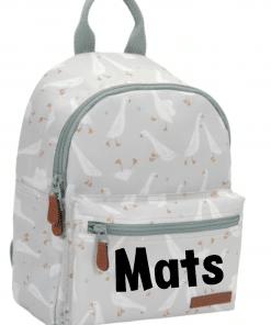 Little Dutch - Kinderrugtas Little Goose - Met naam - School tas met naam - Gepersonaliseerde Schooltas - Kinderschool tas