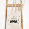 Tas van de liefste oma - Shopper - Vilten shopper - Moederdag cadeau - Oppastas - Voor de liefste oma - cadeau moederdag