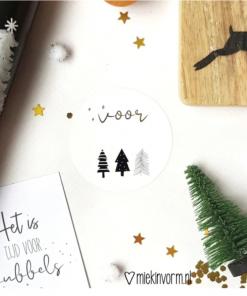 Kerst sticker - Voor - Inpakken
