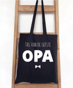 Tas van de liefste opa - Shopper - Vilten shopper - Moederdag cadeau - Oppastas - Voor de liefste oma - cadeau moederdag
