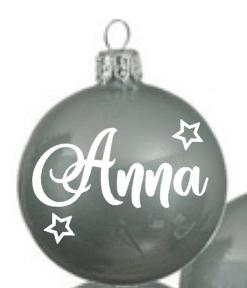 Kerstbal mint groen | Gepersonaliseerd met naam - Kerstbal - baby's eerste kerst - Gepersonaliseerde kerstbal - Cadeau met naam - Kerstcadeau