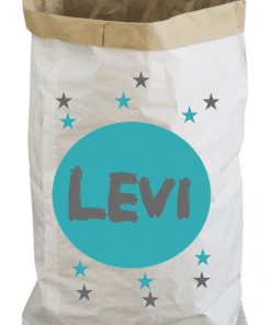 Paperbag - Speelgoed zak - Gepersonaliseerd met naam - Gepersonaliseerd- Opbergzak voor speelgoed - Gepersonaliseerd met naam